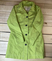 Eddie Bauer Womens Lime Green Christine Trench Rain Coat Size XS - $22.28