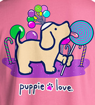 Puppie Love Rescue Dog Adult Unisex Short Sleeve Cotton Tee,Lollipop Pup image 2