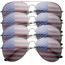 4 PACK Mens Bulk USA American Flag Aviator Sunglasses - $36.83