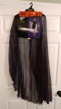 Halloween Spider Web Cape Hooded Costume Purple Totally Ghoul One Size - $17.28