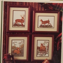 Graceful Deer Fawn Cross Stitch Leaflet Book Color Charts 1992 Nature Wild Buck - $10.99