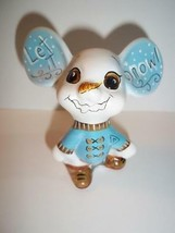 "Fenton Glass ""Let It Snow"" Snowman Christmas Mouse GSE Ltd Ed Kim Barley #15/20 - $174.12"
