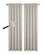 Urbanest 54-inch by 63-inch Napa Set of 2 Sheer Curtain Drapery Panels, Sand - $24.74