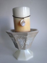 Vintage Satin Frosted Glass Pedestal Candy Dish... - $14.45