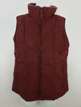 L.L.Bean Goose Down Lined Zip Up Women's Red Puffer Vest Size Small. - $39.59