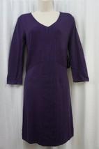 Spense Sweater Dress Sz M Regalia Purple 3/4 Sleeve Solid Casual Party D... - $59.35