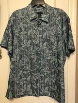 Van Heusen - Blue Short Sleeve Button Front Mens Shirt Size Large 16 - 1... - $9.89