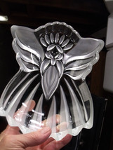 "Gorham Crystal 8 1/2"" Angel Of Peace Candy/Tray Nut Dish Christmas Decor - $15.00"