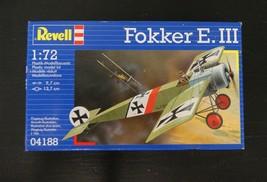 Revell Fokker E.III German Fighter 1:72 Plastic Model Kit 04188 Sealed, ... - $11.66