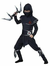 Infantil Guerrero Ninja Kárate Asesino Halloween Disfraz Infantil S-L 00473 - $22.66