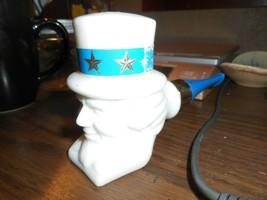 Vintage 1970's Avon Patriotic Uncle Sam Milk Glass Pipe Shaped Decanter NO BOX - $8.90