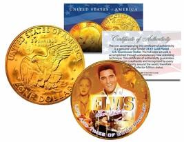 1977 ELVIS PRESLEY 24K Gold Plated Eisenhower IKE Dollar *Officially Lic... - $9.85