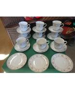 beautiful ABINGDON Fine Porcelain China Set of 9 CUPS & SAUCERS - $49.09
