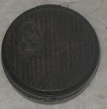 Vintage Cara Nome by Langlois Tin Metal Round Makeup Compact Powder Box ... - $18.81