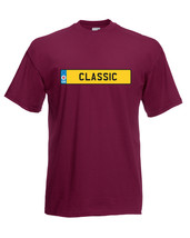 'Classic' Number Plate Car Graphic Design Quality t-shirt tee mens unisex - $13.44