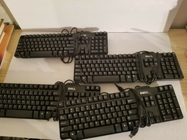 Bundle of Four Dell SK-8115 104-Key USB Wired Standard Keyboard.Used. - $28.04