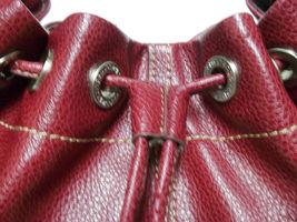 Liz Claiborne Faux Red Pebbled Leather Shoulder Bag image 9