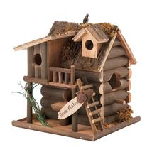 #10029313 *Log Cabin Gone Fishin' Birdhouse* - £15.45 GBP
