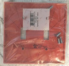 Pass And Seymour TP2-RED 2 Gang Red Nylon Toggle Switch WallPlate image 2