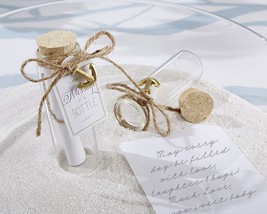Message in a Bottle Glass Summer Beach Destination Bridal Wedding Favors - $99.70+