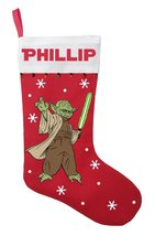 Yoda Christmas Stocking - Personalized and Hand Made Yoda Christmas Stoc... - $29.99