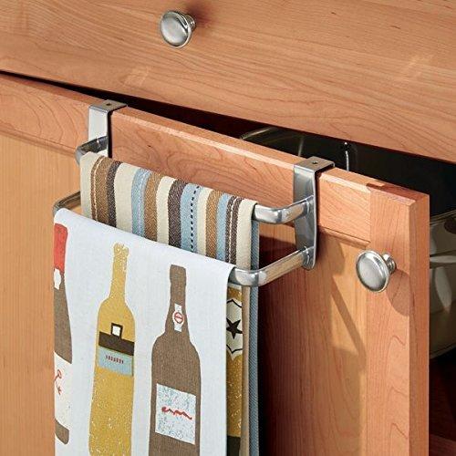 51gtllfjbul. 51gtllfjbul. mDesign Modern Kitchen Over Cabinet Strong Steel Double Towel Bar Rack - Hang on; mDesign Modern ...