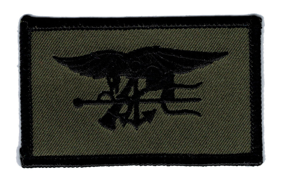 Primary image for NAVY SEALS OD GREEN TRIDENT EMBROIDERED MILITARY PATCH