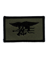 NAVY SEALS OD GREEN TRIDENT EMBROIDERED MILITARY PATCH - $23.74