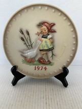 "MJ Hummel Goebel Annual Plate ""Goose Girl"" Hum 267 in Bas Relief 1974 - $10.00"