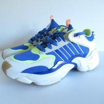 New Adidas Magmur Running Sneakers 10 Blue Neon Green Women EF0760 - $60.48