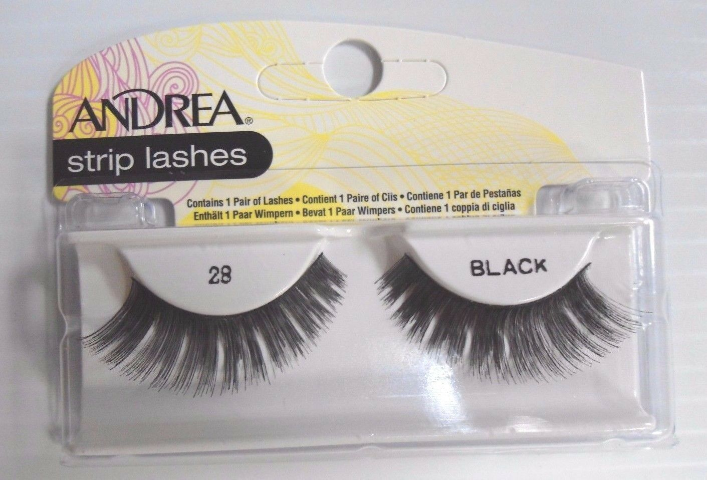 Primary image for Andrea's Strip Lashes Fashion Eye Lash Style 28 Black - (Pack of 4)