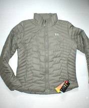 New NWT Womens Under Armour Jacket Coat Packable Tan Khaki L Cold Gear S... - $130.50