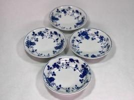 Royal Meissen -  Fine China - 4 FRUIT SAUCE DESSERT BOWLS  - Floral Blue... - $27.09