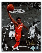 OG Anunoby Toronto Raptors Autographed Basketball Spotlight 8x10 Photo - £30.56 GBP