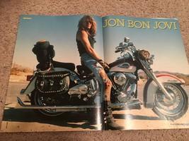 Jon Bon Jovi teen magazine poster clipping Bravo motorcycle 1980's Tiger Beat