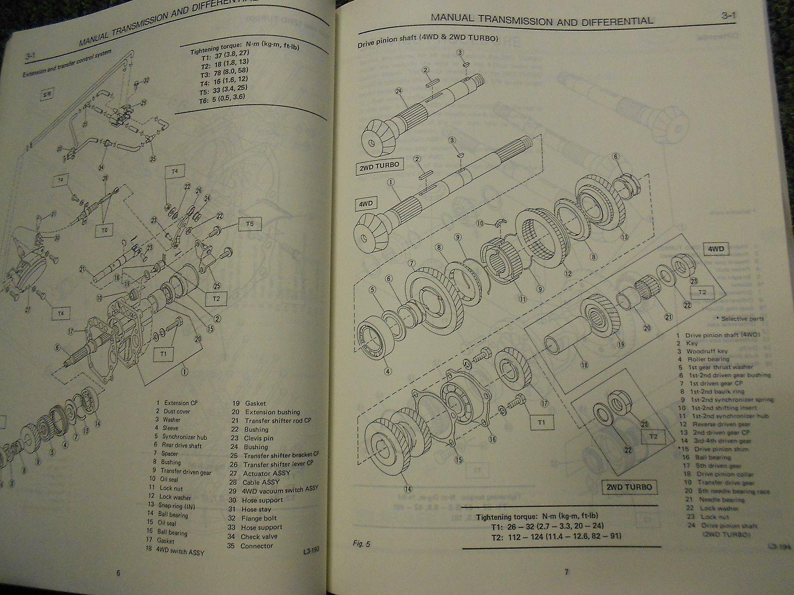 1985 Subaru XT Service Repair Shop Manual FACTORY OEM BOOK RARE 85 Used