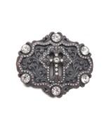 Herren Damen West Bling Mode Bronze Türkis Blau Metall Gürtel Schnalle K... - $31.30