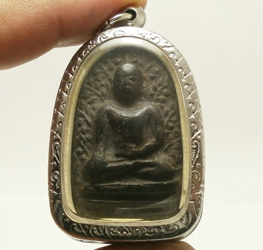 PHRA PERM THAI REAL BUDDHA BLACK ANTIQUE AMULET POWERFUL MAGIC WEALTH RICH LUCKY
