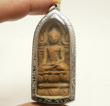 POWERFUL BUDDHA SHINARAJ DHARMA THAI ANTIQUE AMULET SUCCESS WEALTH RICH PENDANT image 1