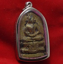 1896 LORD BUDDHA TANJAOMA THAI MIRACLE AMULET LUCKY RICH TRADE BEST FOR BUSINESS image 3