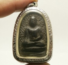 PHRA PERM THAI REAL BUDDHA BLACK ANTIQUE AMULET POWERFUL MAGIC WEALTH RICH LUCKY image 3