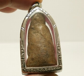THAI BUDDHA BLESSING AMULET LUCKY PENDANT MIRACLE WEALTH HAPPY RICH RARE ANTIQUE image 3