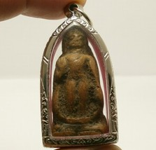 THAI BUDDHA BLESSING AMULET LUCKY PENDANT MIRACLE WEALTH HAPPY RICH RARE ANTIQUE image 5