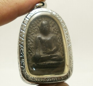 PHRA PERM THAI REAL BUDDHA BLACK ANTIQUE AMULET POWERFUL MAGIC WEALTH RICH LUCKY image 5