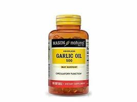 Mason Natural Garlic Oil 500mg Odorless Softgels - 100 Ea - $7.62