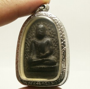 PHRA PERM THAI REAL BUDDHA BLACK ANTIQUE AMULET POWERFUL MAGIC WEALTH RICH LUCKY image 6