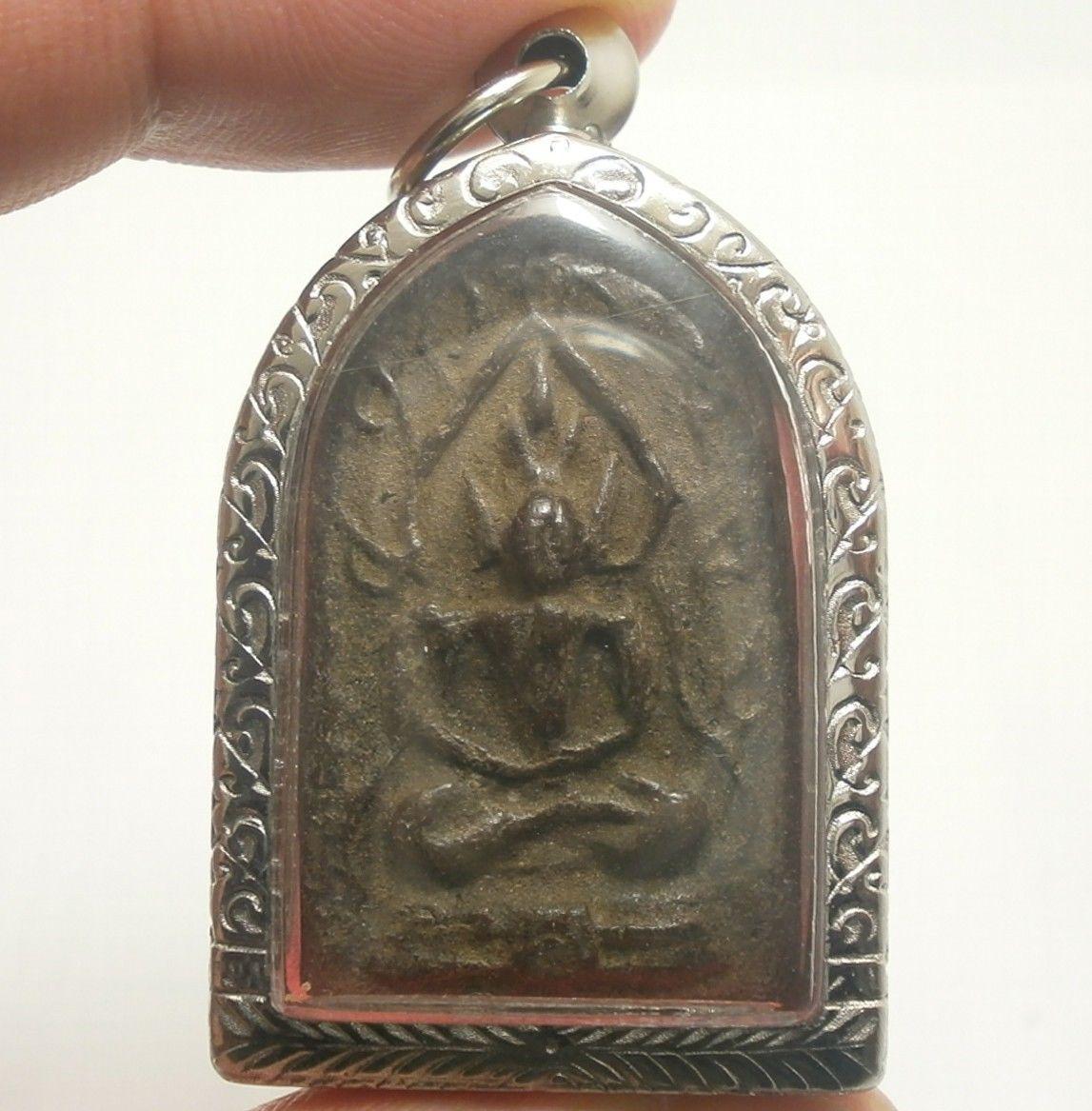 LP BOON BUDDHA IN NIRVANA ENLIGHTEN SHIELD THAI POWERFUL ANTIQUE AMULET PENDANT