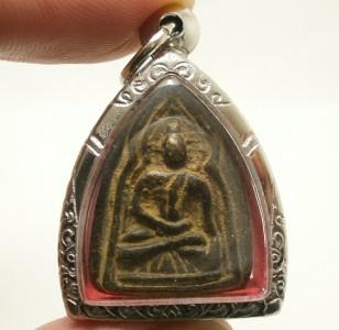 THAI AMULET PENDANT SUPER RARE LP BOON BUDDHA IN DHARMA SHIELD MAGIC JINDAMANEE