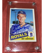 Bret Saberhagen autographed baseball card - $19.99