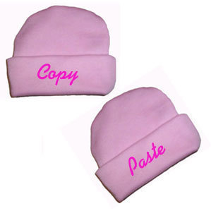 Copy and Paste Hats for Preemie and Newborn Twin Girls